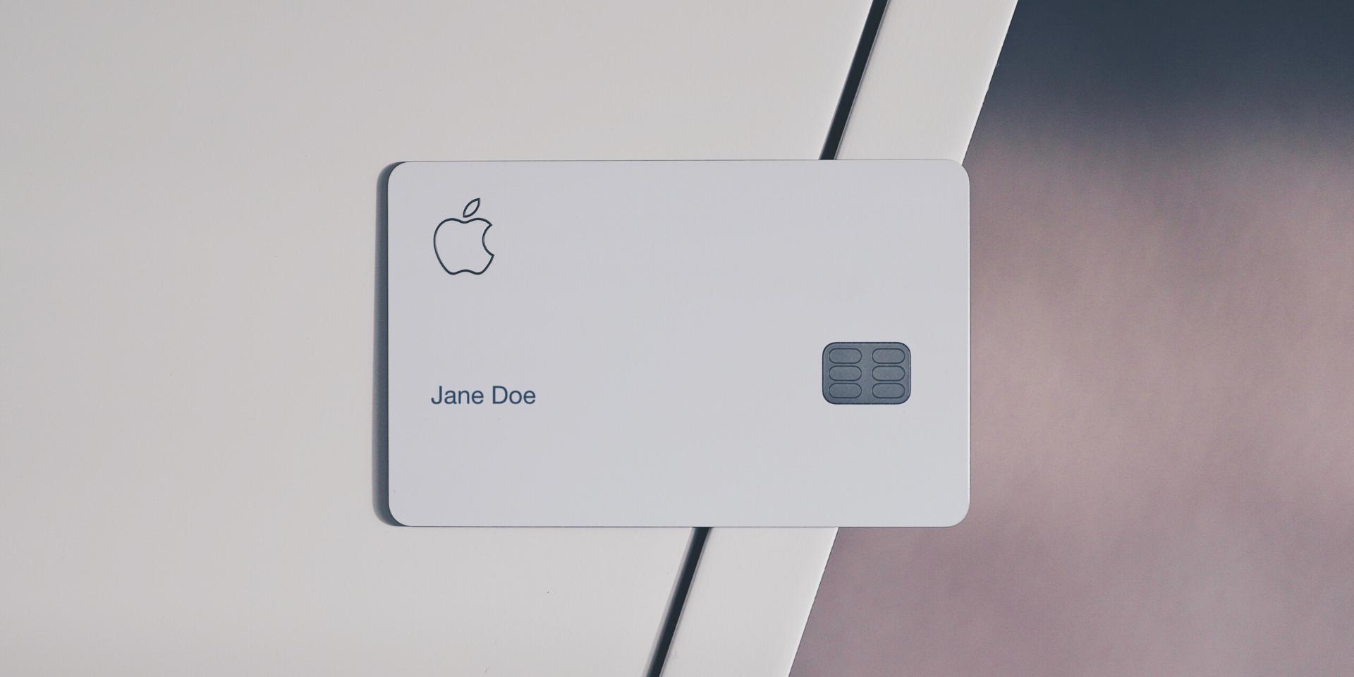 Apple Card front design